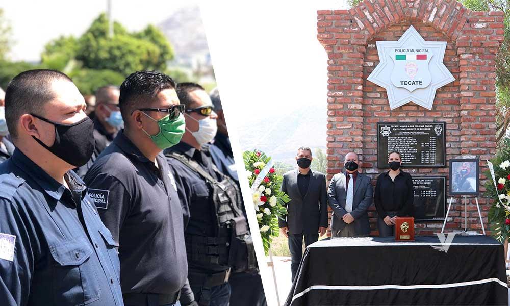 Rinden honores a oficial de policía del XXIII Ayuntamiento de Tecate