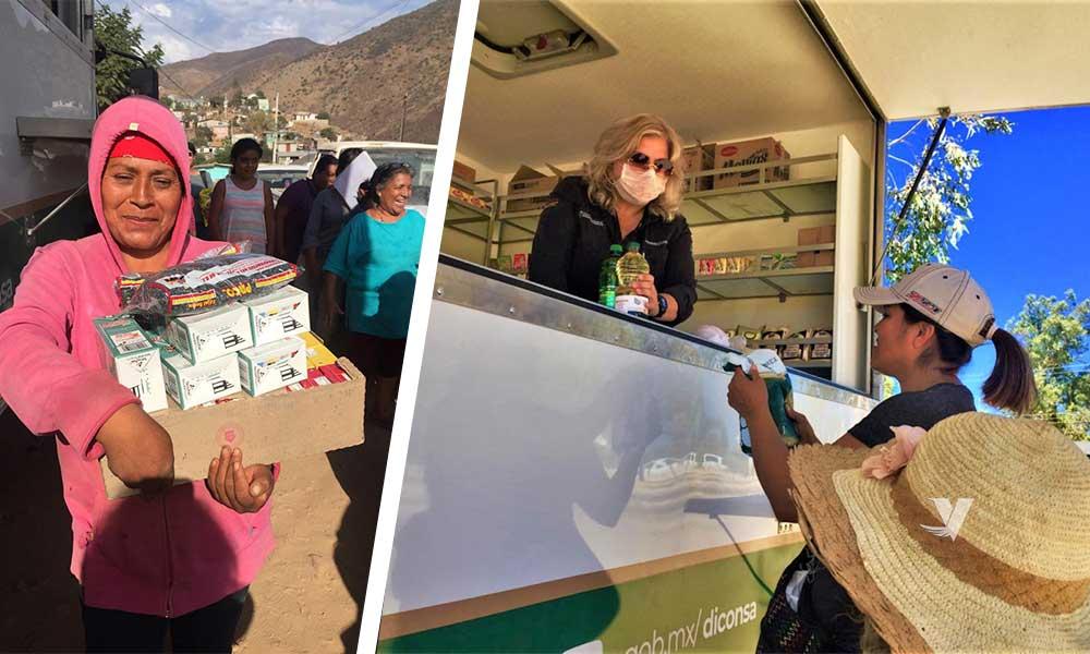 Gran operativo de tiendas móviles para apoyar a mujeres vulnerables de Baja California