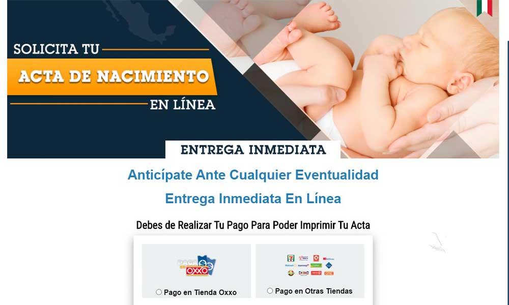 Emite alerta la Dirección de Registro Civil Estatal por venta en línea de actas de nacimiento falsas