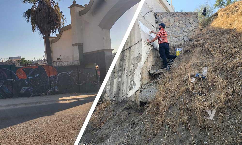 Continúan los trabajos de la unidad antigraffiti en el municipio