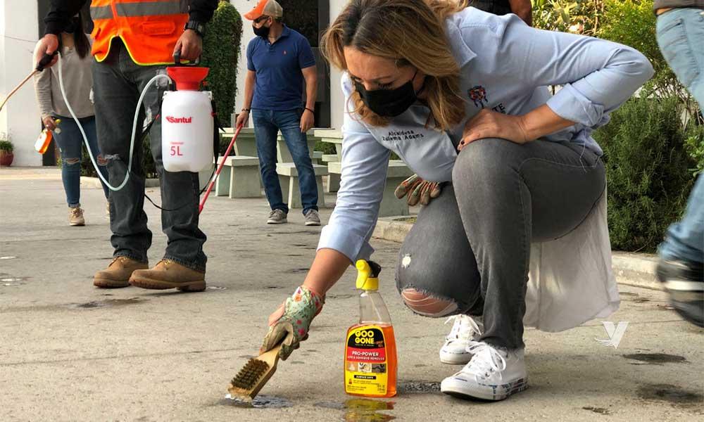 Encabeza Alcaldesa Zulema Adams Jornada De Limpieza En El Emblemático Parque Miguel Hidalgo