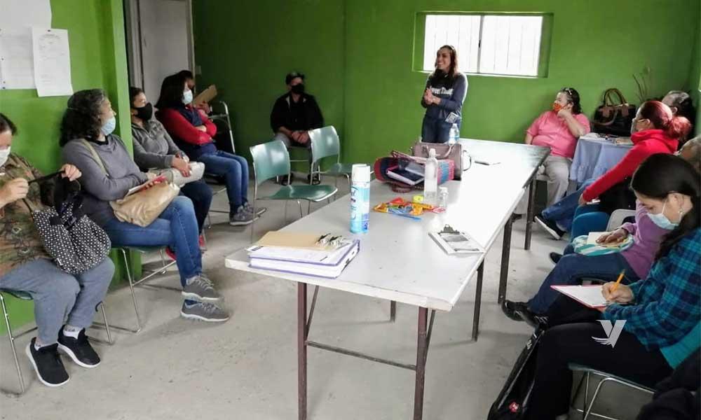Imparte DIF Municipal plática de Salud Mental en el Centro Comunitario de la colonia Cucapah