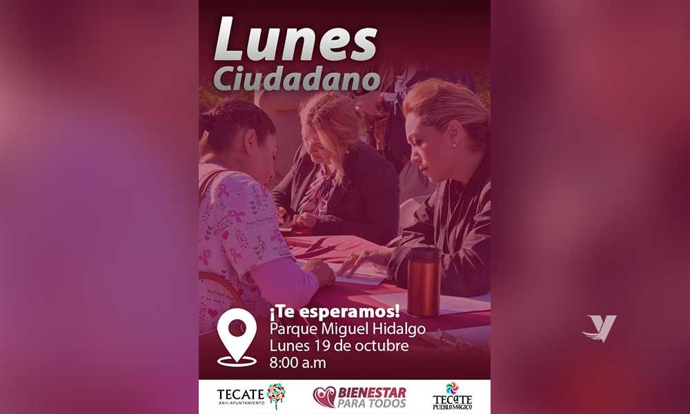 Invita alcaldesa Zulema Adams al Lunes Ciudadano el próximo 26 de octubre en Parque Miguel Hidalgo