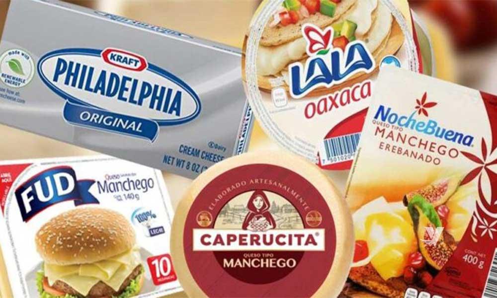 Prohiben la venta de quesos Philadelphia, Lala, Fud y otras marcas por incumplir normas