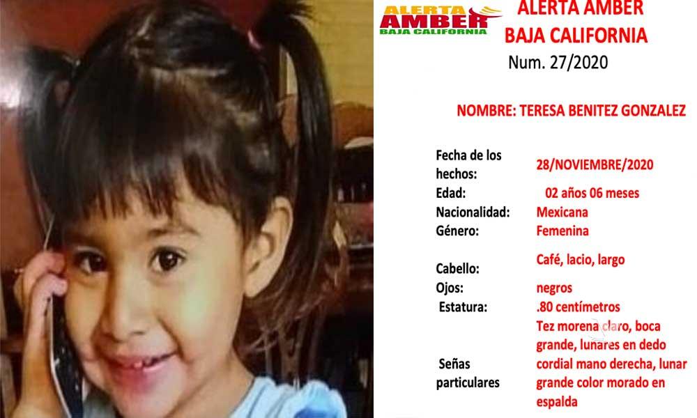 Alerta Amber: Menor desaparecida en Ensenada