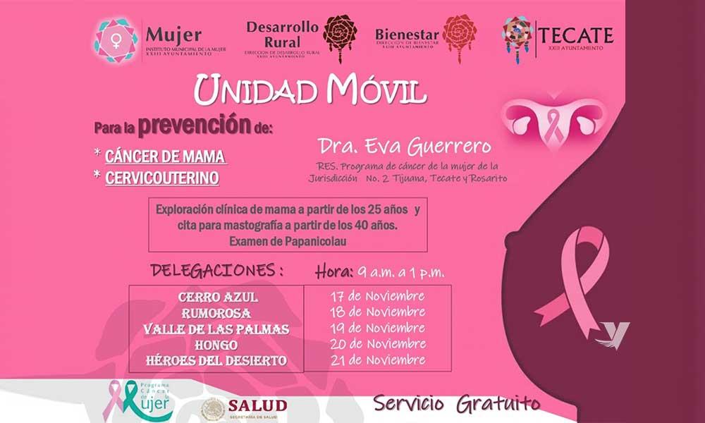 Invitan A Campaña Gratuita De Detección De Cáncer De Mama Y Cérvicouterino Con Unidad Móvil En Zona Rural