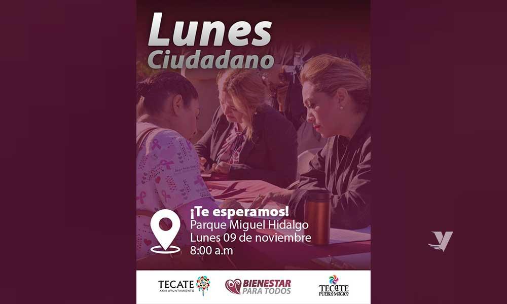 Se Recorre El Lunes Ciudadano Para El Próximo 09 De Noviembre En Parque Miguel Hidalgo