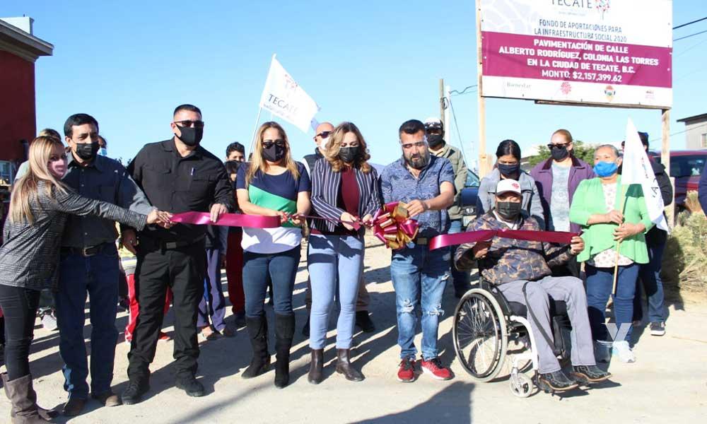Inaugura  Zulema Adams Pereyra Trabajos De Pavimentación En Colonia Las Torres