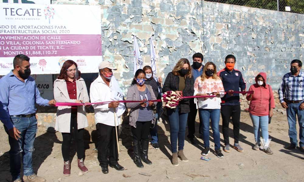 Da Arranque Zulema Adams A Trabajos De Pavimentación En Colonia San Fernando; Se Beneficiarán Padres De Familia De Escuela Primaria