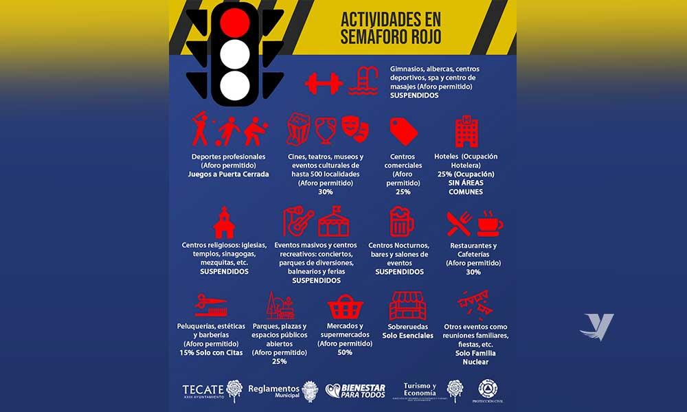 El XXIII Ayuntamiento de Tecate informa los lineamientos de actualización para hacer frente a la contingencia sanitaria por COVID-19