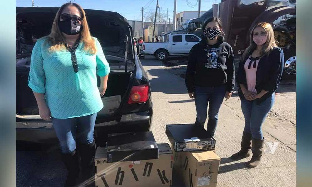 El Comité Binacional Unidos por la Niñez A.C.,  realiza  donación de equipo de cómputo a bibliotecas públicas de Tecate