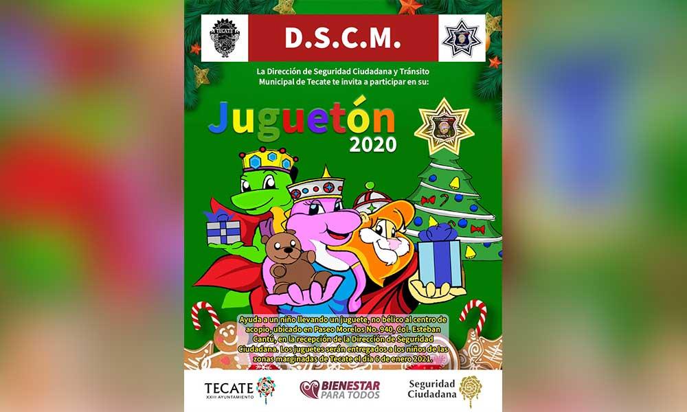 Da arranque alcaldesa Zulema Adams Pereyra a colecta juguetón 2020 en las instalaciones de Seguridad Ciudadana y Tránsito Municipal