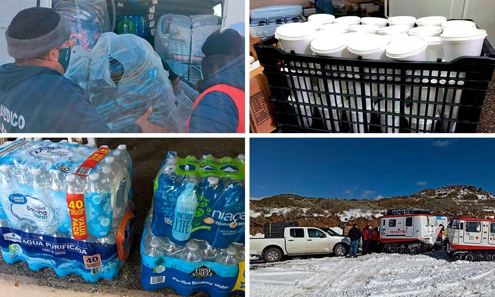 Canalizan apoyos XXIII Ayuntamiento de Tecate, Cruz Roja y ciudadanía ante personas en riesgo por nevada y helada en La Rumorosa