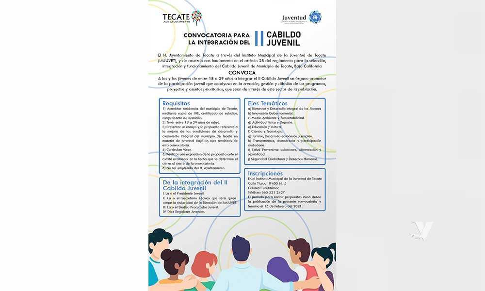 Invita el Instituto Municipal de la Juventud a jóvenes tecatenses a integrarse al II Cabildo Juvenil