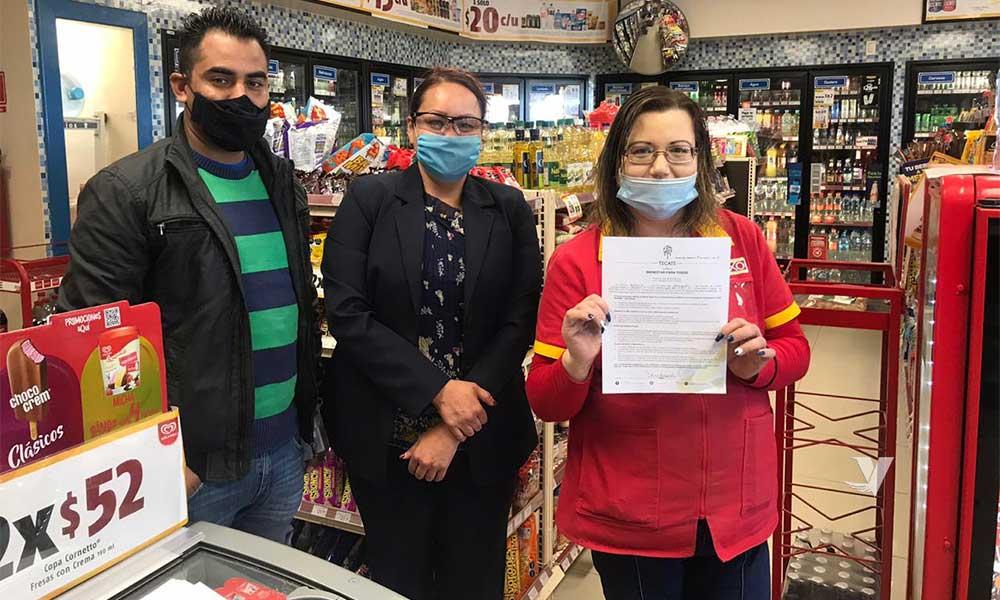 Dirección  de Desarrollo Económico  y Turismo llevó a cabo revisión de protocolos de higiene ante COVID-19 en comercios de Tecate