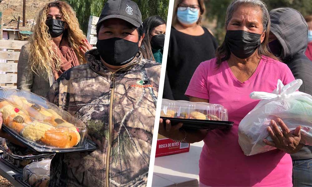 Entrega DIF Municipal tradicional rosca de reyes, juguetes y despensas a sectores vulnerables de Tecate