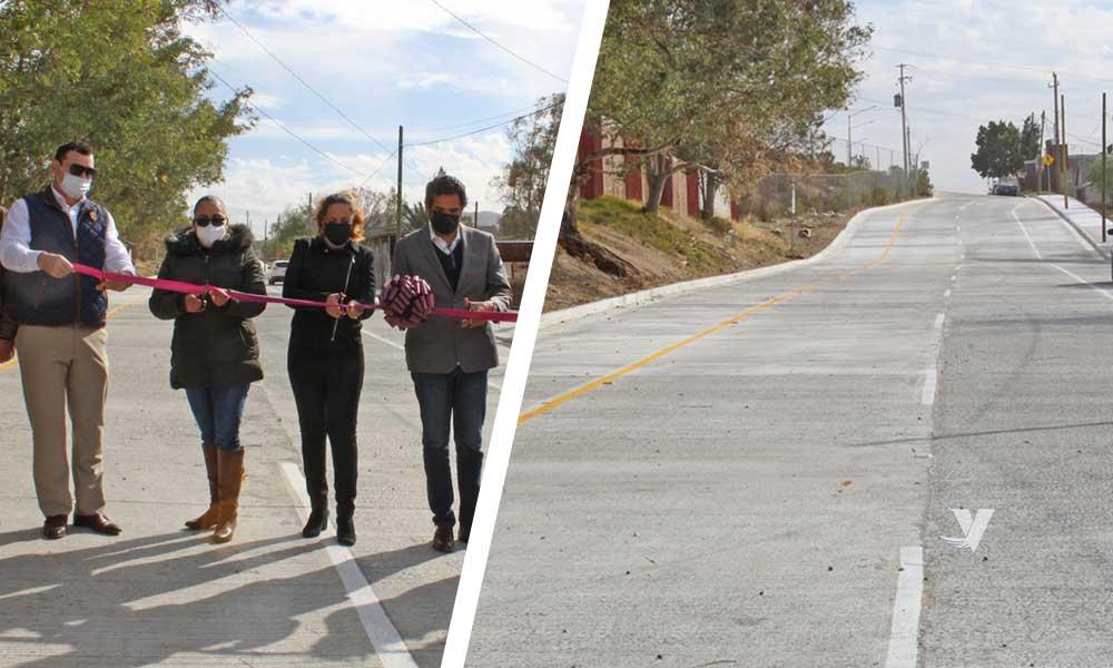 Con corte de listón, alcaldesa Olga  Zulema Adams Pereyra, da por inaugurada la pavimentación de la calle José María Morelos y Pavón de la colonia Aldrete