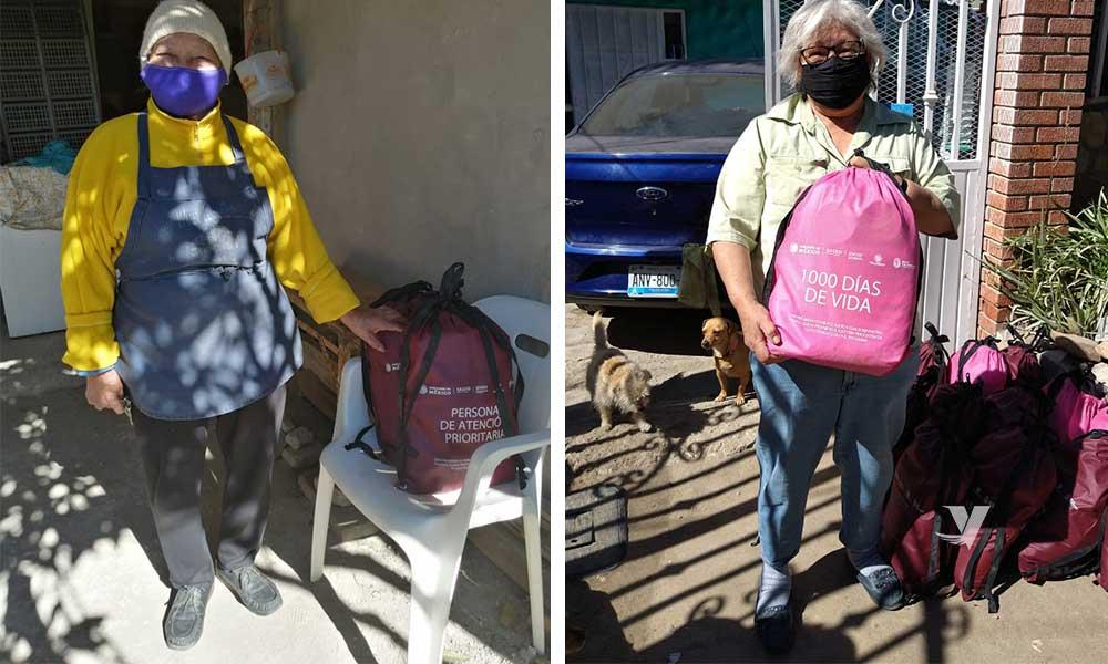 Entrega DIF Municipal despensas a familias vulnerables en diversas colonias del municipio