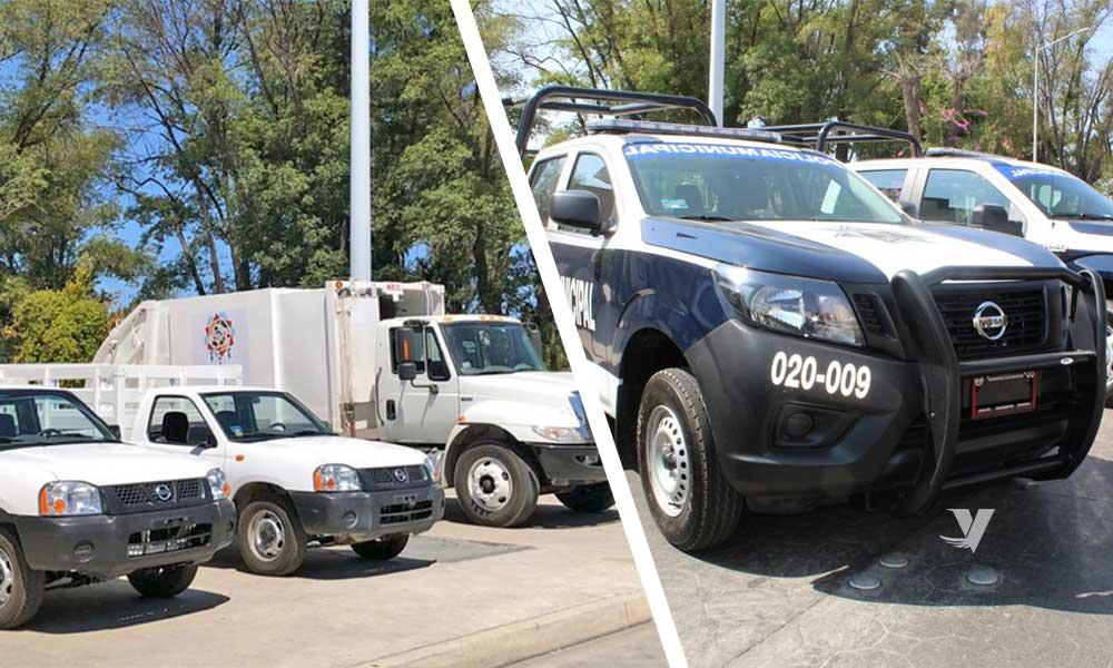 Logra alcaldesa Olga Zulema Adams Pereyra cobertura total de flotilla vehicular del Gobierno Municipal