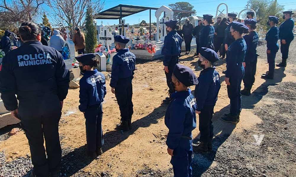 Realizan homenaje luctuoso en conmemoración de oficiales caídos en Delegación La Rumorosa