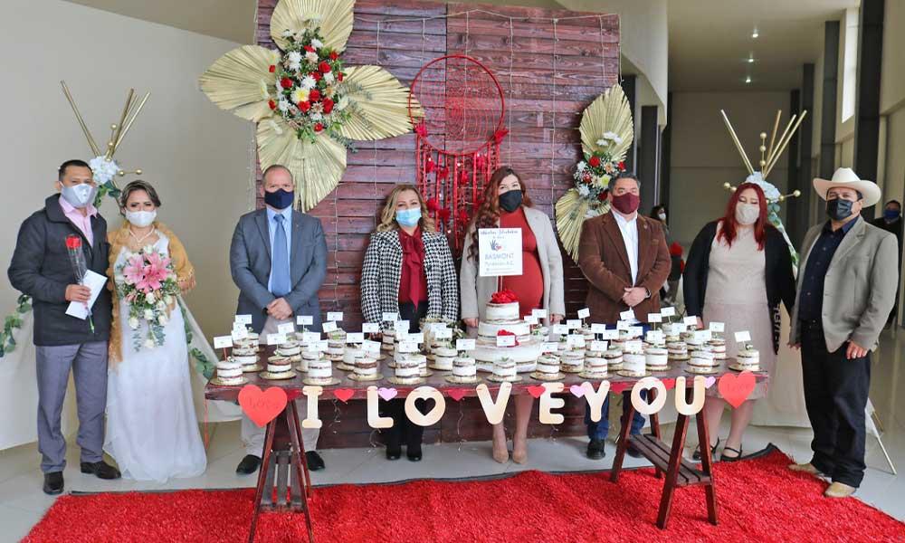 Celebra DIF Municipal ceremonia de Matrimonios Colectivos en el marco del día del amor y la amistad