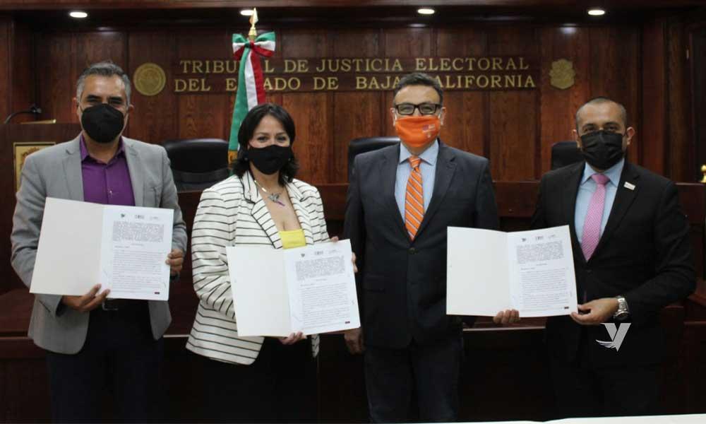 Suscriben convenio de colaboración las autoridades electorales de Baja California