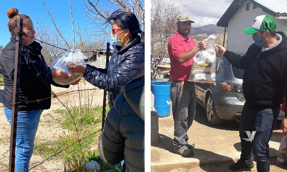 El XXIII Ayuntamiento de Tecate lleva a cabo brigada de entrega de apoyos  en las colonias del municipio que más lo necesitan