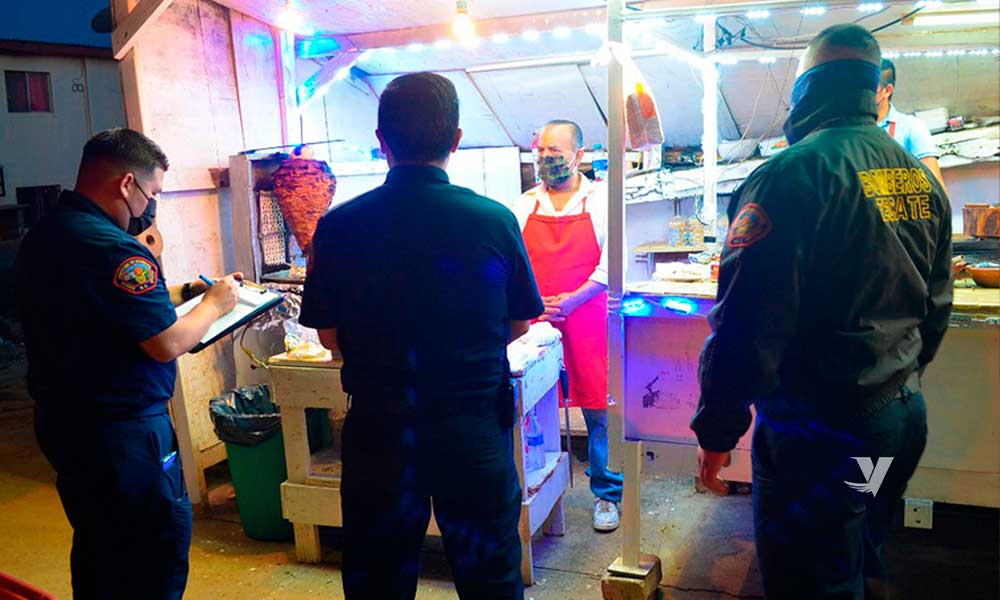 Inspeccionan instalaciones de gas en puestos fijos y semifijos en Tecate