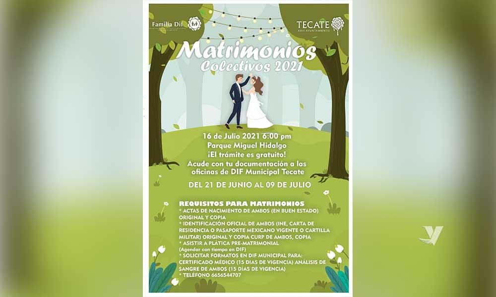 Invita DIF Municipal a realizar trámite para la ceremonia de Matrimonios Colectivos