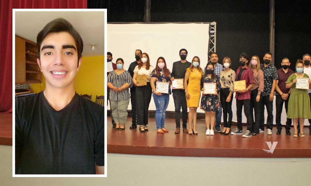 Premian a Edgar Armando Chávez Lucero orgullo Cimarrón con Premio Municipal de la Juventud