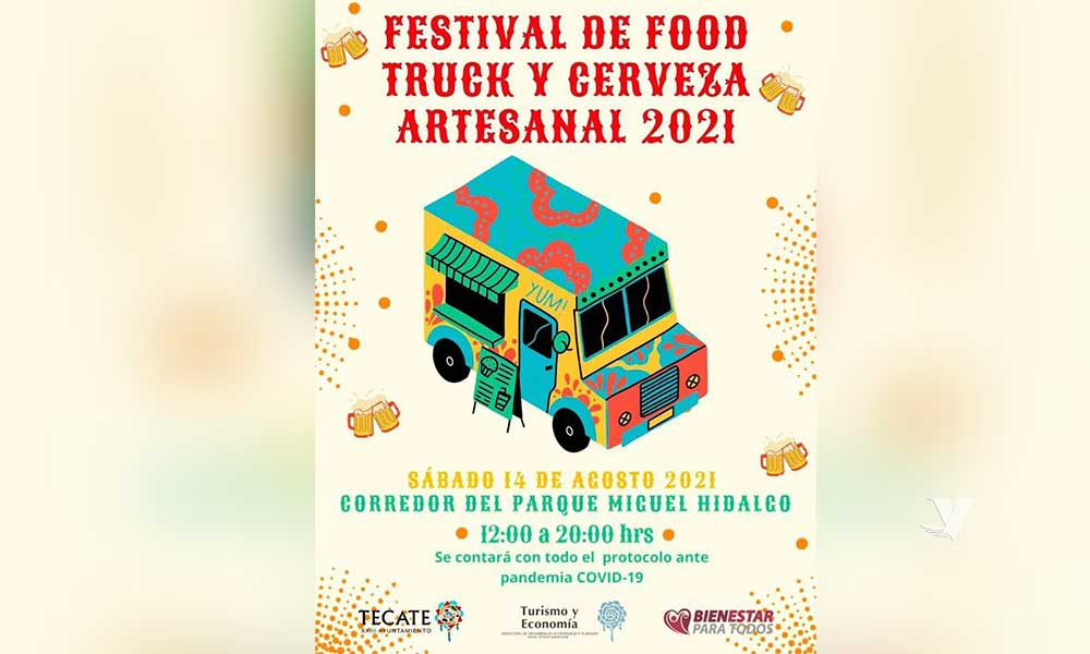 Invita Dirección de Desarrollo Económico y Turismo al Festival de Food Truck y Cerveza Artesanal el 14 de agosto