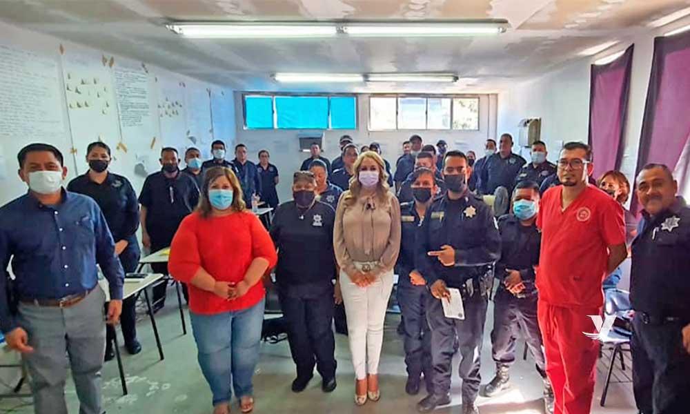 Da arranque alcaldesa, Olga Zulema Adams Pereyra, a curso en primeros auxilios para elementos de seguridad ciudadana